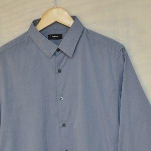Theory Button Down Dress Shirt L